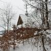 Kapliczna na Przełęczy Hyrcza nad Łopienką